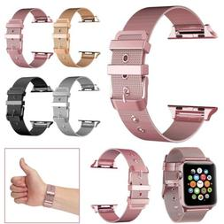 For Apple Watch Series 12 3 38/42mm Stainless Steel Strap Ba