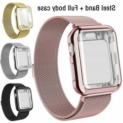 For Apple Watch Series 5 4 3 2 1 Milanese iWatch Band Strap+