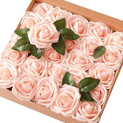 Ling's moment Artificial Flowers 50pcs Real Looking Blush Fa