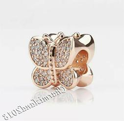 Authentic Pandora Charm 781257C01 Rose Gold  Sparkling Butte