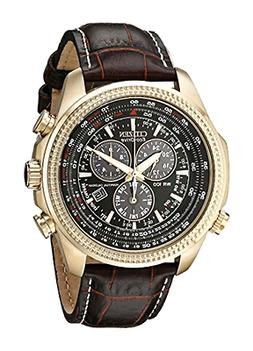 Citizen Men's BL5403-03X Eco-Drive Watch with Leather Band