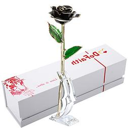 DEFAITH Real Rose 24K Gold Dipped, Forever Gifts for Her Val