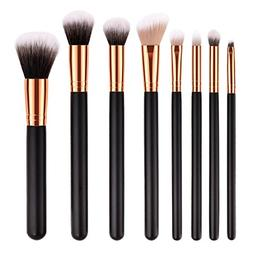 Homyl Premium Black Wood Handle Cosmetic Makeup Brushes Set