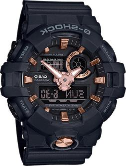 BRAND NEW CASIO G-SHOCK GA710B-1A4 BLACK/ROSE GOLD TONE ANA-