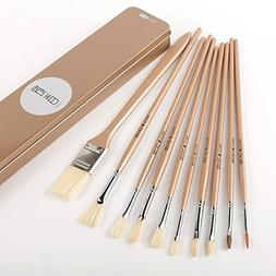 Amyove 10PCS Bristle Sector Paint Art Brushes Ink Brush for