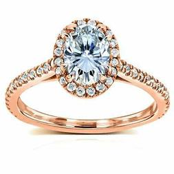 by kobelli 14k rose gold oval moissanite