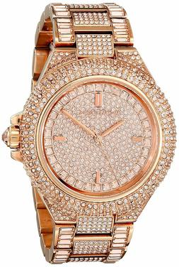 d01f6887e4c0 Michael Kors Camile Rose Crystal Pave Rose Gold-tone Ladies