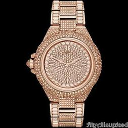MICHAEL KORS CAMILLE ROSE GOLD TONE PAVE,GLITZ,CRYSTAL CHAIN