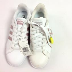 Adidas CF Advantage Womens Tennis Shoes White/Rose Gold Size