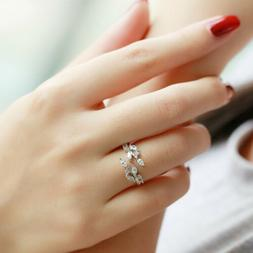 Chic Women Jewelry Leaf Design Ring Novelty Fashion New Acce