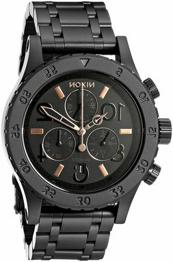 NEW Nixon 38-20 Chrono All Black Rose Gold Original Price  $