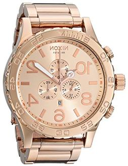 Nixon Men's 51-30 Chrono Watch Rose Gold Tone Solid Stainles