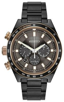 Citizen Men's Chronograph Eco-Drive Grey Ion-Plated Stainles