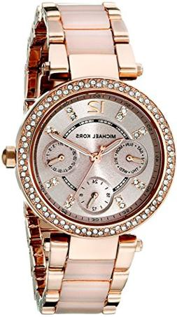Michael Kors Women's Chronograph Mini Parker Blush and Rose