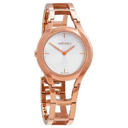 Calvin Klein Class Silver Dial Rose Gold-tone Ladies Watch K