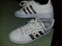 Adidas Cloudfoam Superstar women size 6 rose gold.  Girls' m