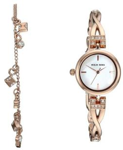 Anne Klein Crystals Mother Pearl Dial Rose Gold Women's Watc