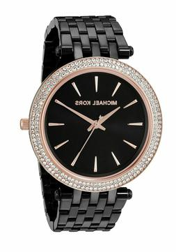 Michael Kors Darci Black Rose Gold Stainless Steel MK3407 Wo