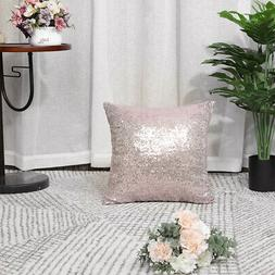 Decorative Square Shiny Comfy Sequin Throw Couch Sofa Pillow