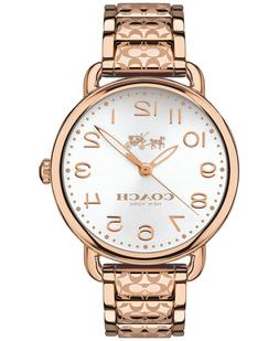 COACH DELANCEY ROSE GOLD-TONE ION-PLATED STAINLESS STEEL 145