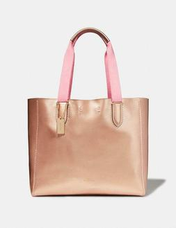 Coach Derby Tote, Rose Gold Metallic, New Factory Sealed, $2