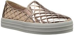 Skechers Women's Double Up-Duvet Sneaker Rose Gold 9 M US