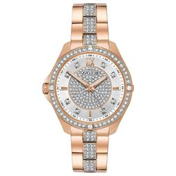 Bulova Women's Dress Crystal Rose Gold-Tone Stainless Steel