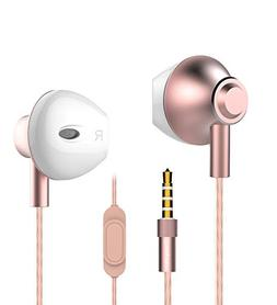 Earphones Headphones, Powerful Bass Earbuds with Mic, 14mm L
