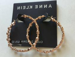 Anne Klein Earrings $35 Rose Gold Tone New Over Stock With T