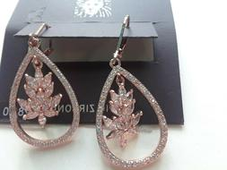 Anne Klein Earrings Rose Gold Tone New Over Stock With Tags