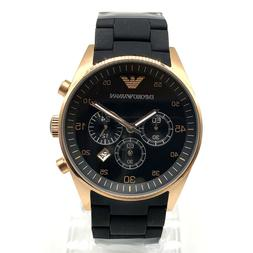 Emporio Armani Chronograph Silicone and Steel Mens Watch AR5