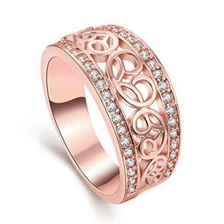 TIVANI  Women's Pretty 18K Rose Gold Plated Vintage Filigree