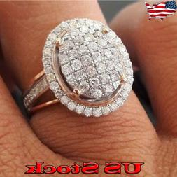 Fashion Jewelry Round Diamante Womens Bridal Engagement Set