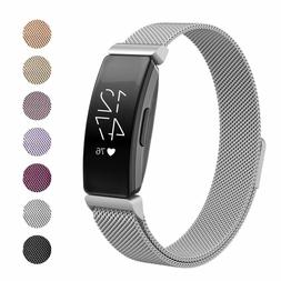 For Fitbit Inspire/Inspire HR Milanese Stainless Steel Magne