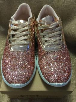 Forever By Forever Link,  Rose Gold, Tennis Shoes 8 1/2