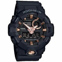 Casio G-Shock Men's GA-710B-1A4DR Black/Rose Gold Tone Watch