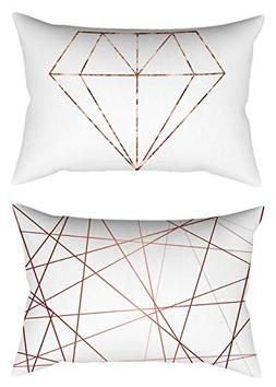 Youngnet Geometric Diamond Pattern Throw Pillow Covers 12 X