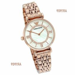 Emporio Armani Women's Gianni AR1909 Rose Gold Stainless-Ste