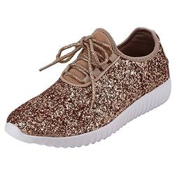 Women's Glitter Sneakers Fashion Sneakers Sparkly Shoes for