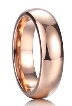 King Will Glory 6mm Rose Gold Plated High Polished Comfort F