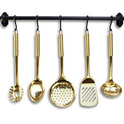 Gold/Brass Cooking Utensils for Modern Cooking and Serving,