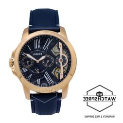 Fossil Grant Twist Three-Hand Blue Leather Men's Watch ME116