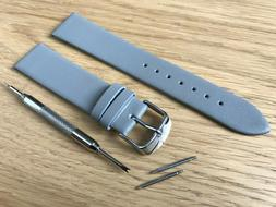 For FOSSIL Watch Grey Genuine Leather Strap Band Buckle Mens