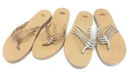 heina metallic rose gold or silver sandals