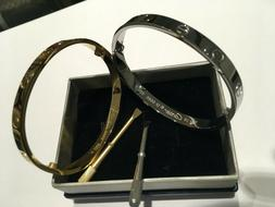 High Quality Unisex Stainless Steel Love Bangle Bracelets Fo