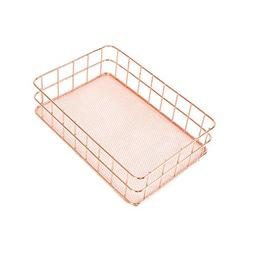 Aulley Home Nordic Style Iron Rose Gold Rectangle Desktop St