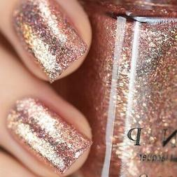 ilnp juliette rose gold holographic nail polish