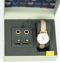 Fossil Women's Jacqueline Pink Leather Strap Watch 36mm and