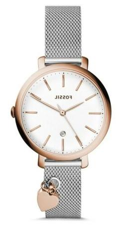 Fossil Jacqueline Three-Hand Date Stainless Steel Watch (Sta
