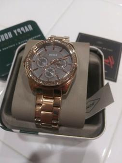 Fossil Janice Multi function Rose Gold Tone Stainless Steel